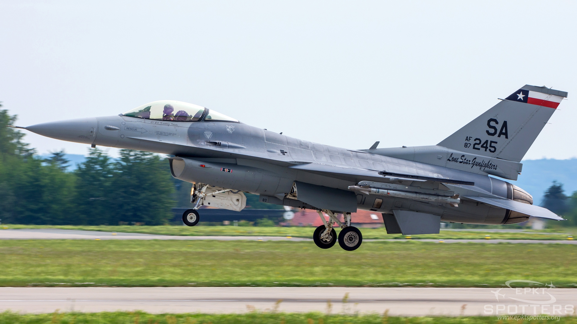 87-0245 - Lockheed Martin F-16-C Fighting Falcon  (United States - US Air Force (USAF)) / Caslav - Caslav Czech Republic [LKCV/]