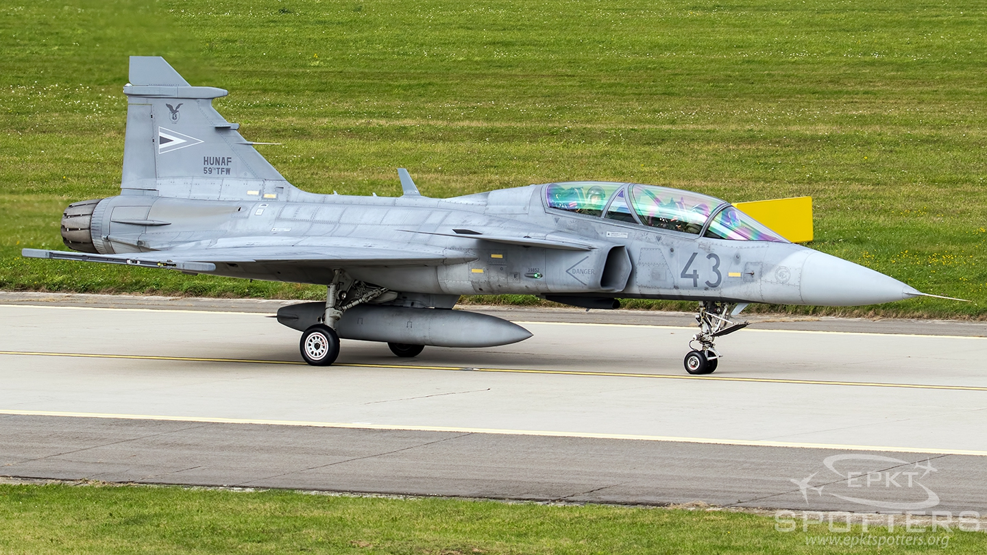 43 - Saab JAS-39 D Gripen (Hungary - Air Force) / Leos Janacek Airport - Ostrava Czech Republic [LKMT/OSR]
