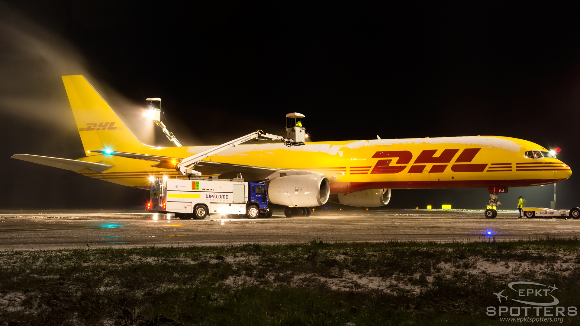 G-DHKJ - Boeing 757 -28A(PCF) (DHL Air) / Pyrzowice - Katowice Poland [EPKT/KTW]