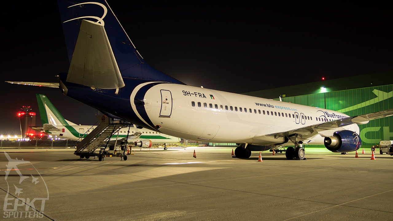 9H-FRA - Boeing 737 -85F (Blue Panorama Airlines) / Pyrzowice - Katowice Poland [EPKT/KTW]