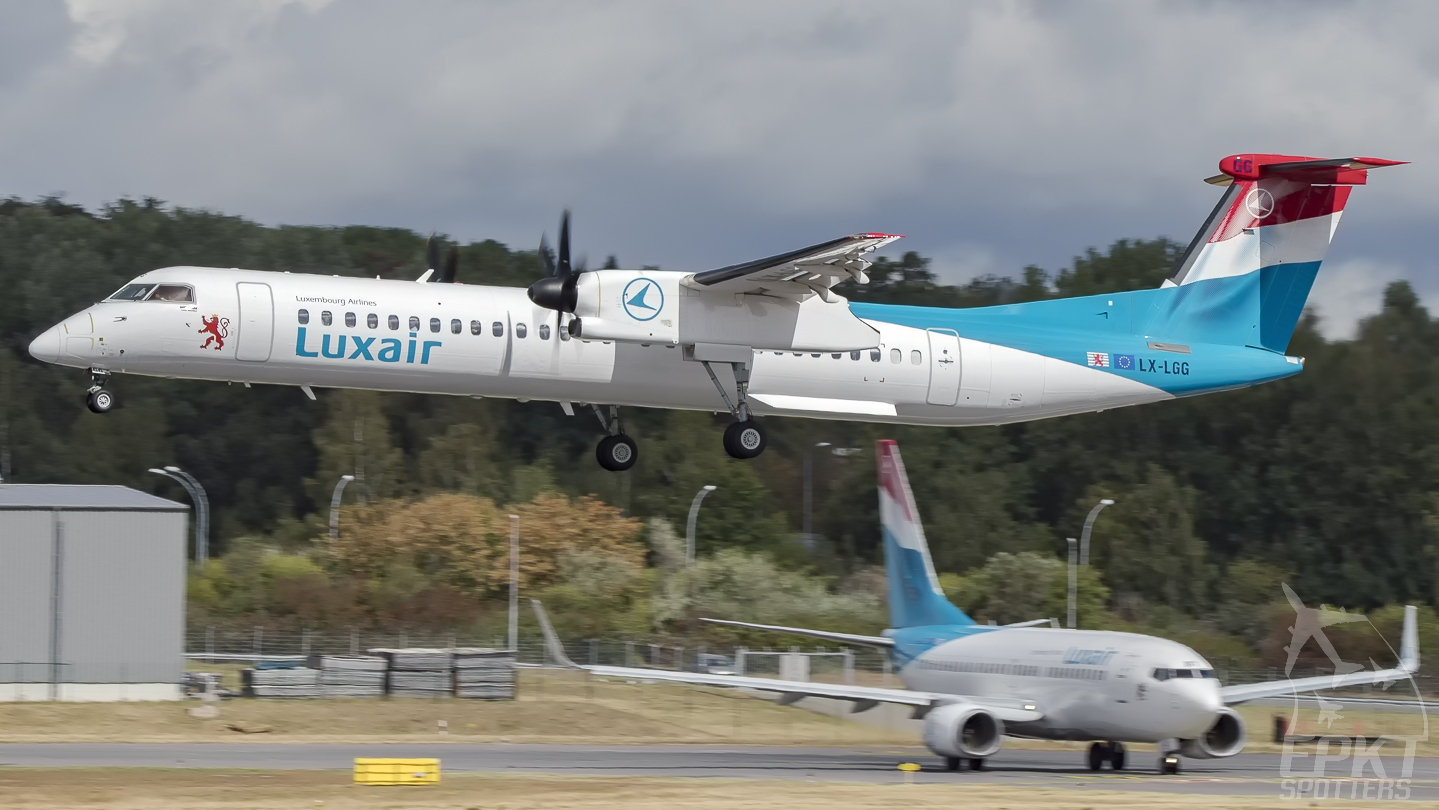 LX-LGG - Bombardier Dash 8 -Q402 (Luxair - Luxembourg Airlines) / Luxembourg-findel International Airport - Luxembourg Luxembourg [ELLX/LUX]