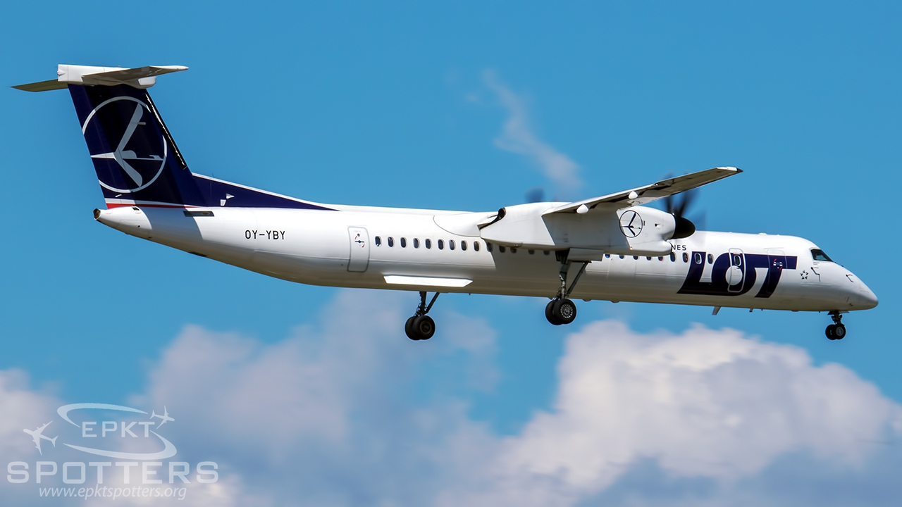 OY-YBY - Bombardier Dash 8 -Q402 (LOT Polish Airlines (Nordic Aviation Capital)) / Pyrzowice - Katowice Poland [EPKT/KTW]