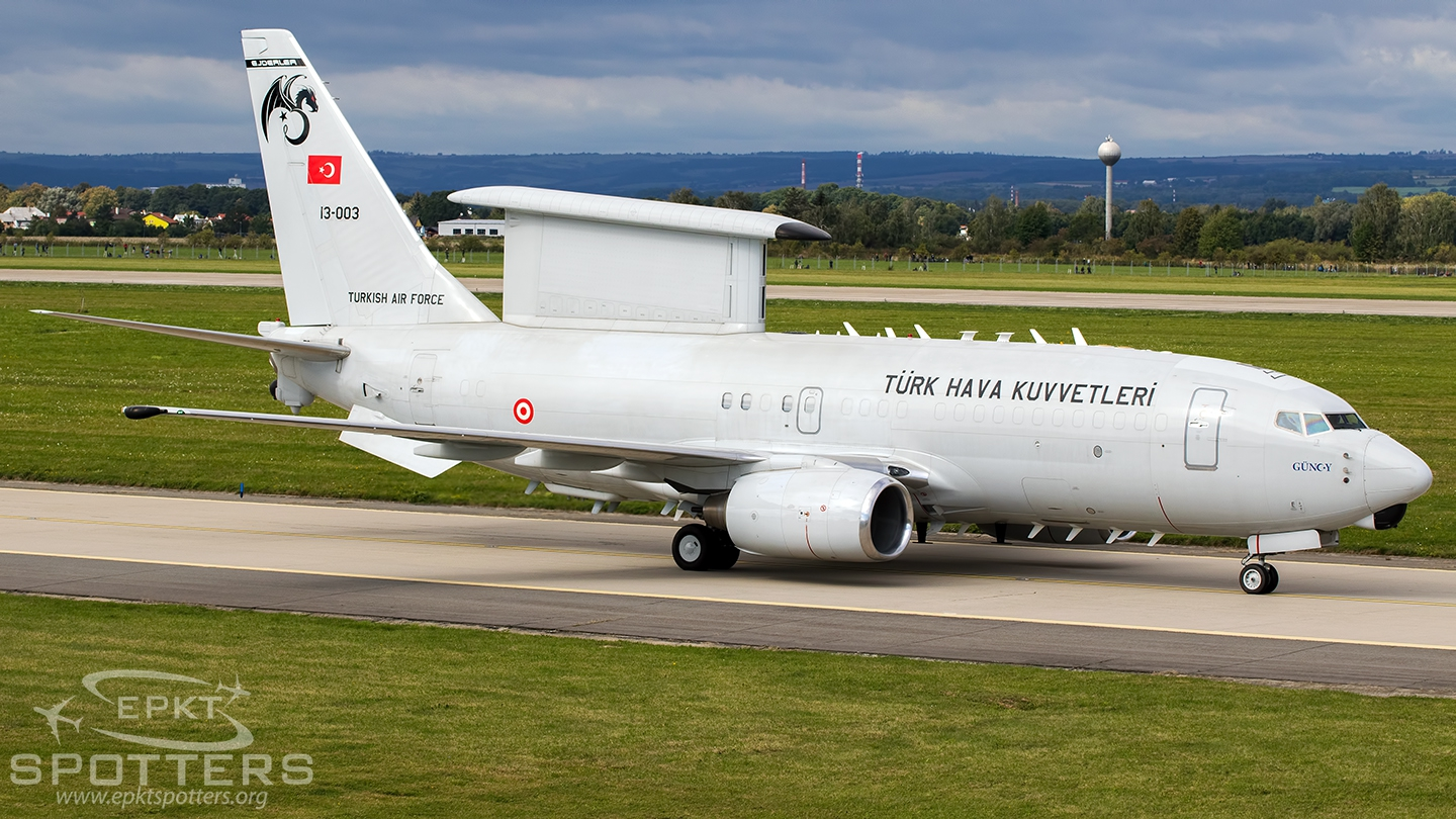 13-003 - Boeing E-7T  Peace Eagle (Turkey - Air Force) / Leos Janacek Airport - Ostrava Czech Republic [LKMT/OSR]
