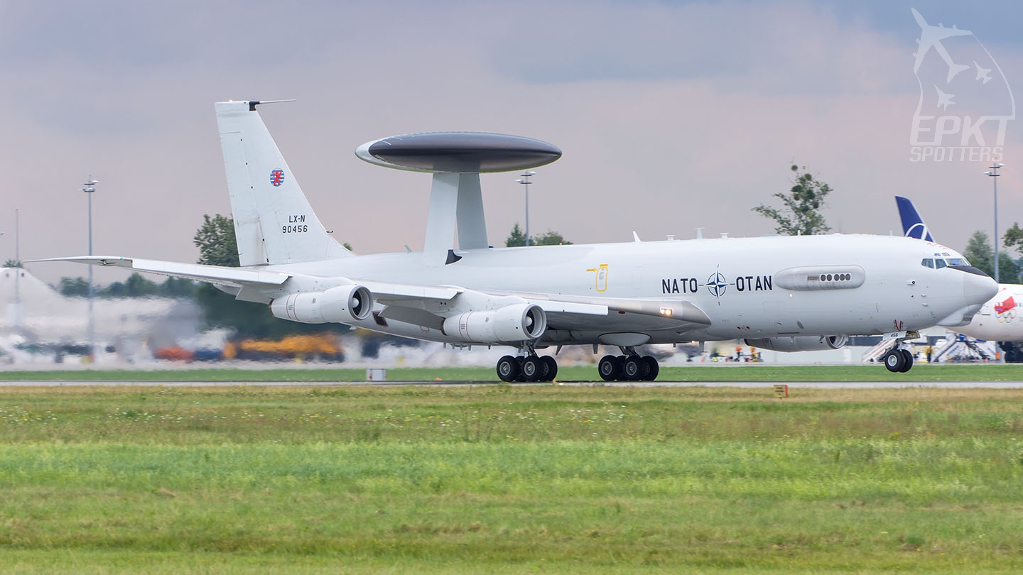 LX-N90456 - Boeing E-3 A Sentry (NATO - Airborne Early Warning Force) / Pyrzowice - Katowice Poland [EPKT/KTW]