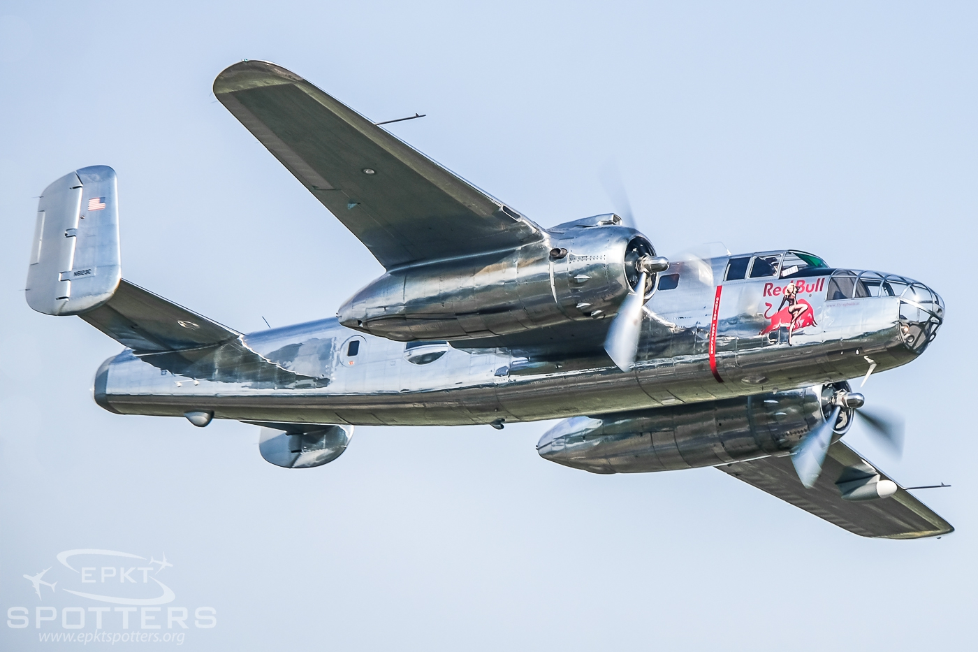N6123C - North American B-25 J Mitchell (The Flying Bulls) / Muchowiec - Katowice Poland [EPKM/]